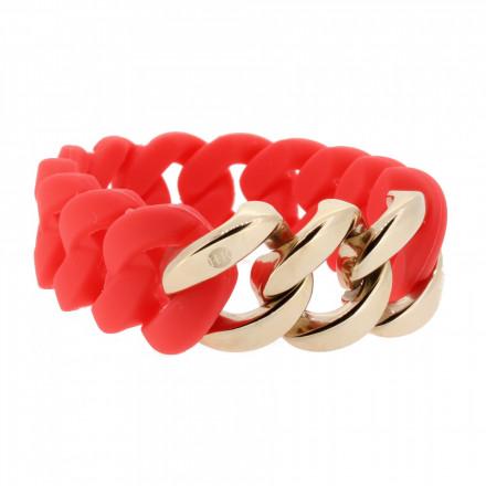 HANSE-KLUNKER ORIGINAL Damen Armband 106969 Edelstahl koralle rosegold