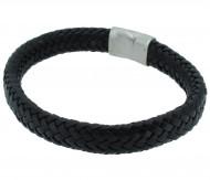 POLICE Herren Armband PJ24647BLB-01-L Leder schwarz
