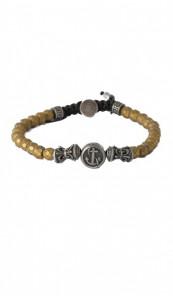 HAFEN-KLUNKER Armband Anker 107701 Edelstahl Hämatit gold vintage