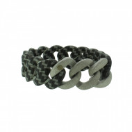 HANSE-KLUNKER ORIGINAL Damen Armband 107792 Edelstahl carbon style silber sandgestrahlt