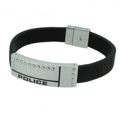POLICE Herren Armband PJ24643BLB-01-L Leder braun