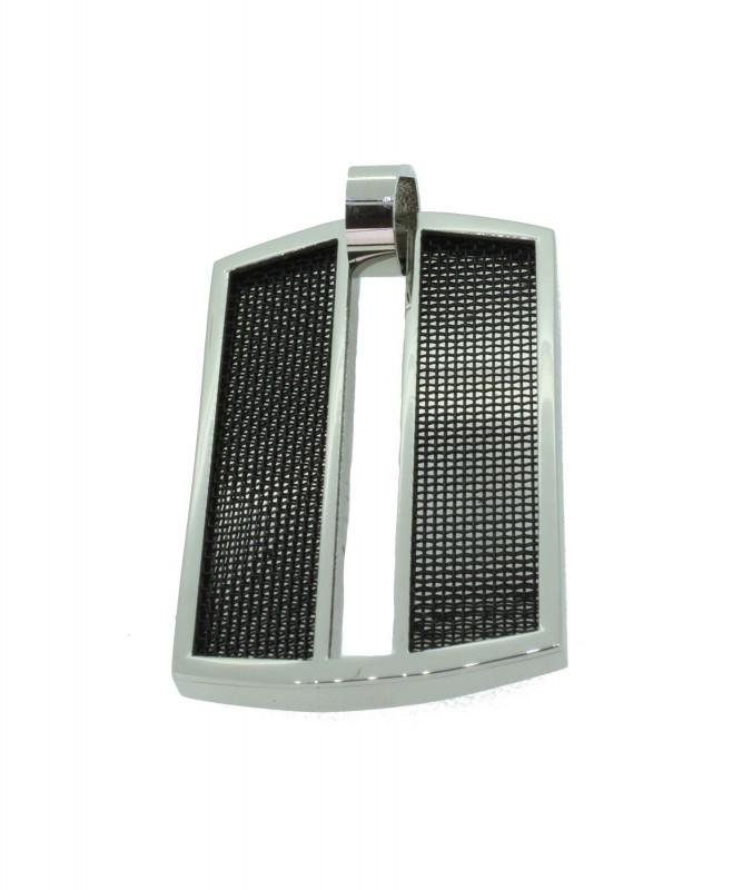 Grey Anhänger GAH010 Edelstahl grau silber