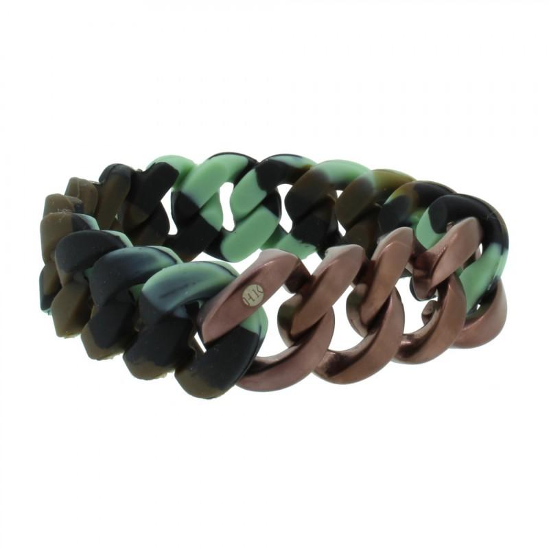 HANSE-KLUNKER ORIGINAL Herren Armband 107009 Edelstahl camouflage bronze matt