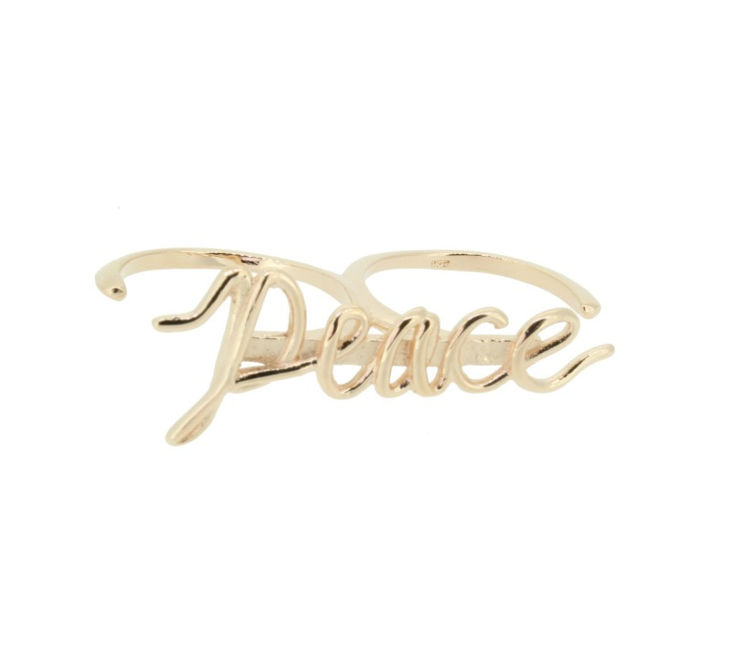 SilverArt Collection Ring Peace SR004-RG Silber rhodiniert rosegold