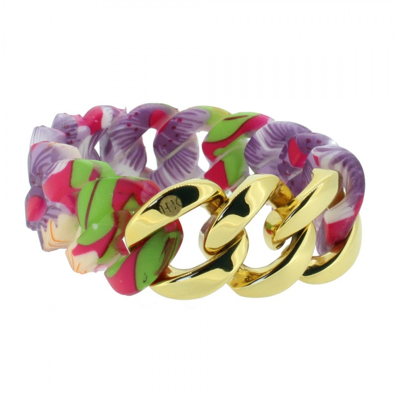 HANSE-KLUNKER ORIGINAL Damen Armband 107406 Edelstahl hawaii gold