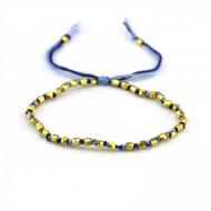 PEARL BAY Perlenarmband 107551 Metall gold blau
