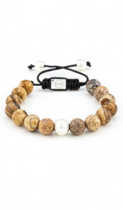 MARC SWAN Armband Shamballa Style 106477 braun