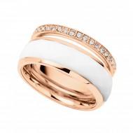 FOSSIL Ring CLASSICS JF01123791-6.5 Edelstahl roségold