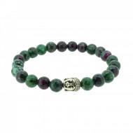 Silverart Buddha Armband 107834 FAB046 Zoisit grün Metal nickelfrei versilbert