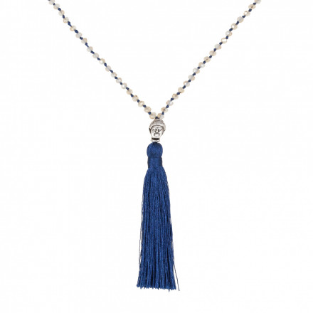 MARC SWAN Kette 77979 Buddha grau blau