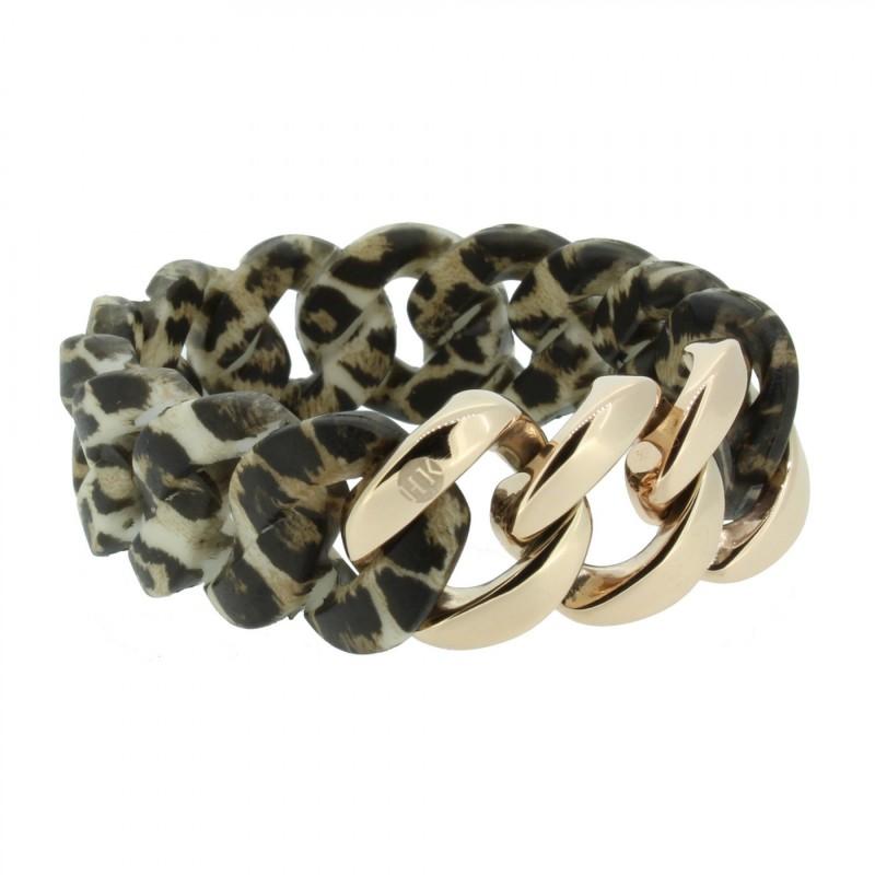 HANSE-KLUNKER ORIGINAL Damen Armband 107037 Edelstahl leopard rosegold