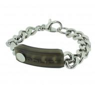 POLICE Herren Armband PJ24550BSB-01-L Edelstahl silber