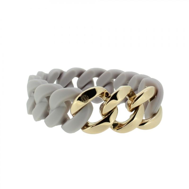 HANSE-KLUNKER ORIGINAL Damen Armband 107773 Edelstahl pastellviolett rosegold