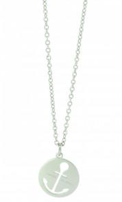 HAFEN-KLUNKER Glamour Collection Halskette Anker 108043 Edelstahl Anker ausgestanzt rund silber