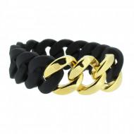 HANSE-KLUNKER ORIGINAL Damen Armband 106780 Edelstahl schwarz gold