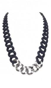 HANSE-KLUNKER Damen Kette 107070 Edelstahl schwarz silber matt