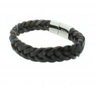 Grey Armband GAB024BK Leder schwarz