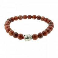 Silverart Buddha Armband 107852 FAB028 Roter Jaspis rot Metal nickelfrei versilbert