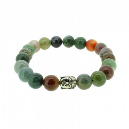 Silverart Buddha Armband 107839 FAB041 Jade grün gemischt Metal nickelfrei versilbert