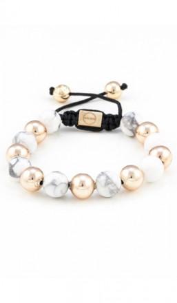 MARC SWAN Armband Shamballa Style 100110 rosegold weiss