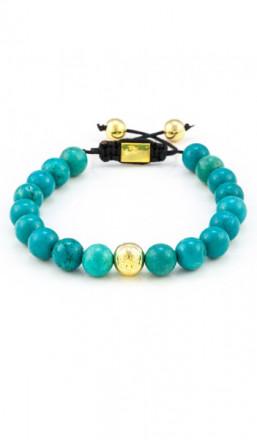 MARC SWAN Armband Shamballa Style 106483 türkis gold