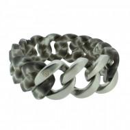 HANSE-KLUNKER ORIGINAL Damen Armband 107410 Edelstahl grau weiss silber matt