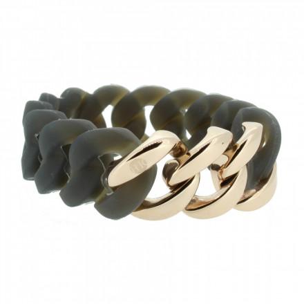 HANSE-KLUNKER ORIGINAL Damen Armband 106793 Edelstahl grau rosegold