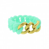 HANSE-KLUNKER ORIGINAL Damen Armband 107935 Edelstahl türkis gold matt