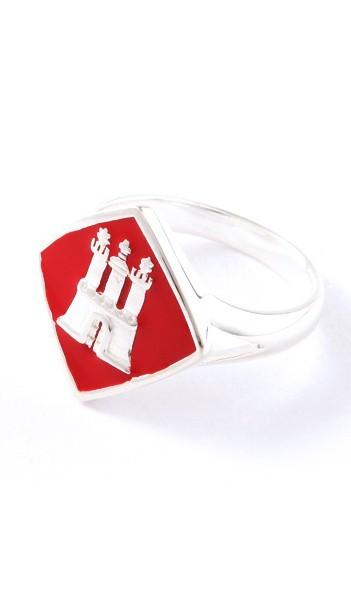 Hamburg Schmuck Ring TPR006 Silber rot