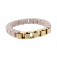 HANSE-KLUNKER FASHION Damen Armband 108007 Edelstahl pastellviolett rosegold