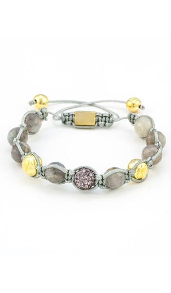 MARC SWAN Armband Shamballa Style 106437 grau gold