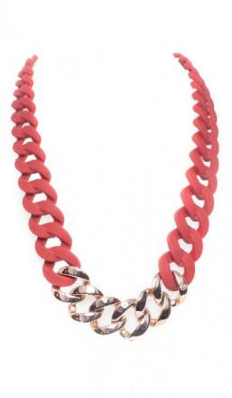 HANSE-KLUNKER Damen Kette 107078 Edelstahl rot rosegold