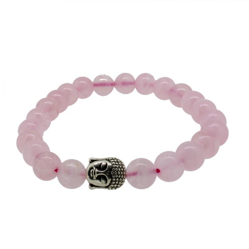 Silverart Buddha Armband 107876 FAB004 Rosenquartz rosa Metal nickelfrei versilbert