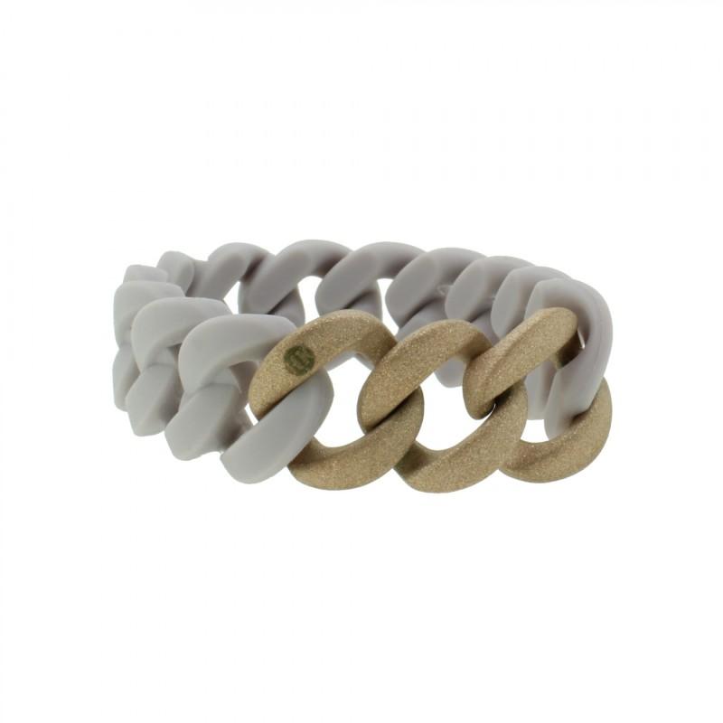 HANSE-KLUNKER ORIGINAL Damen Armband 107774 Edelstahl pastellviolett rosegold sandgestrahlt