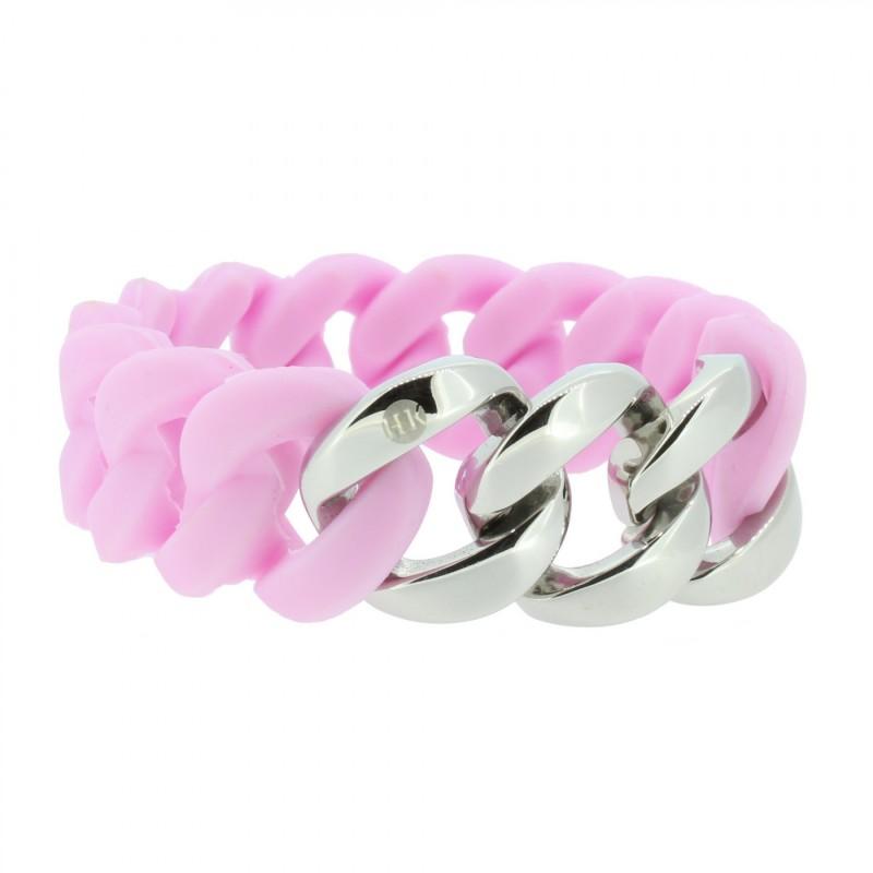 HANSE-KLUNKER ORIGINAL Damen Armband 106961 Edelstahl flieder silber