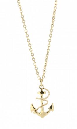 HAFEN-KLUNKER Glamour Collection Halskette Anker 108039 Edelstahl Anker mit Tau rosegold