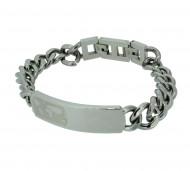 Grey Armband GAB008 Edelstahl silber