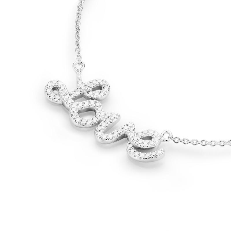 SilverArt Collection Kette Love 99010993450 Sterlingsilber silber