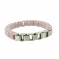 HANSE-KLUNKER FASHION Damen Armband 108006 Edelstahl pastellviolett silbermatt