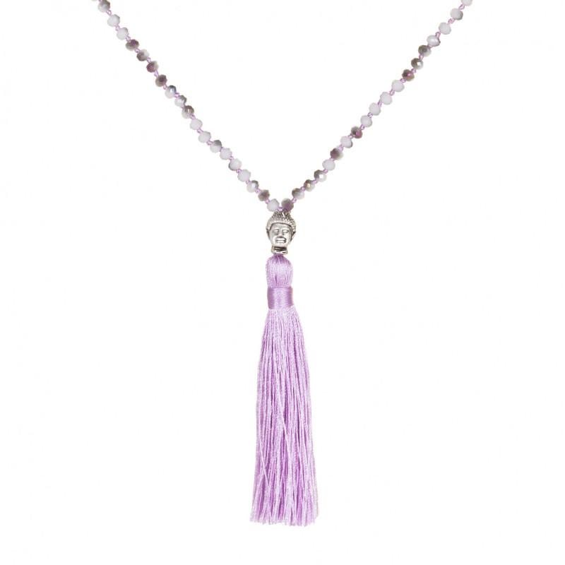 MARC SWAN Kette 77978  Buddha grau lila