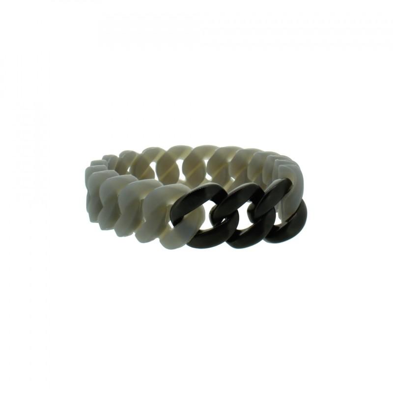 HANSE-KLUNKER MINI Damen Armband 107967 Edelstahl grau schwarz matt