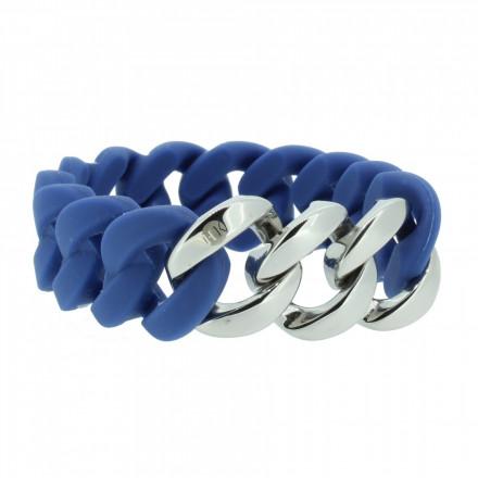 HANSE-KLUNKER ORIGINAL Damen Armband 106790 Edelstahl blau silber