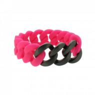 HANSE-KLUNKER ORIGINAL Damen Armband 107941 Edelstahl pink schwarz matt