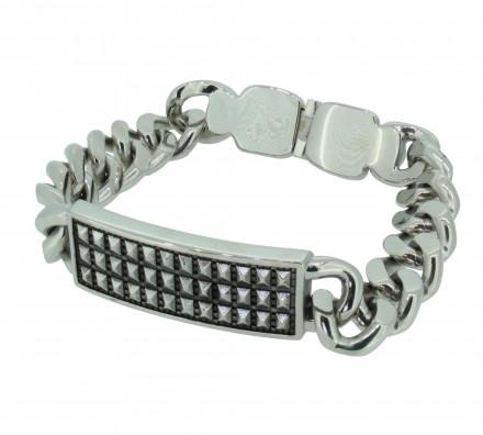 POLICE Herren Armband PJ24695BSS-01-S Edelstahl silber