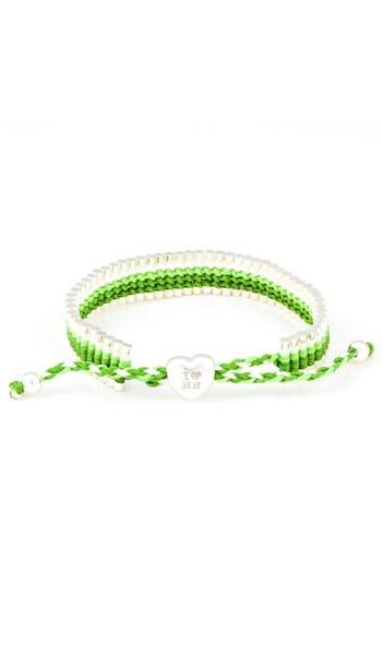 I Love Hamburg Armband 106410 Herz grün weiss