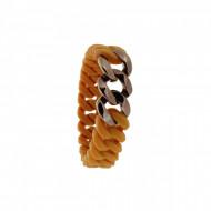 HANSE-KLUNKER MINI Damen Armband 107717 Edelstahl hellbraun bronze