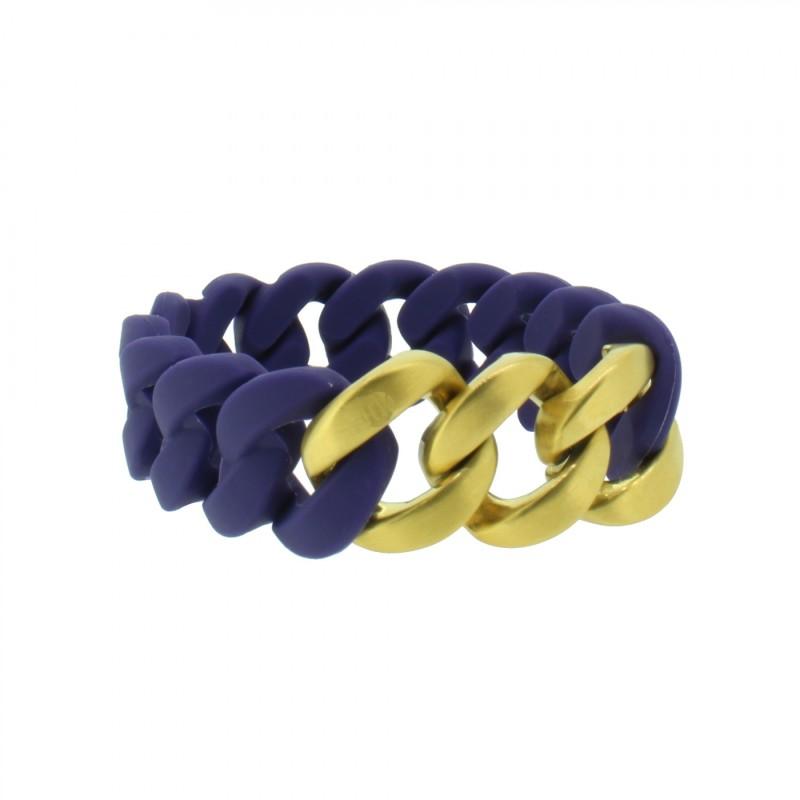 HANSE-KLUNKER ORIGINAL Damen Armband 107923 Edelstahl nachtblau gold matt