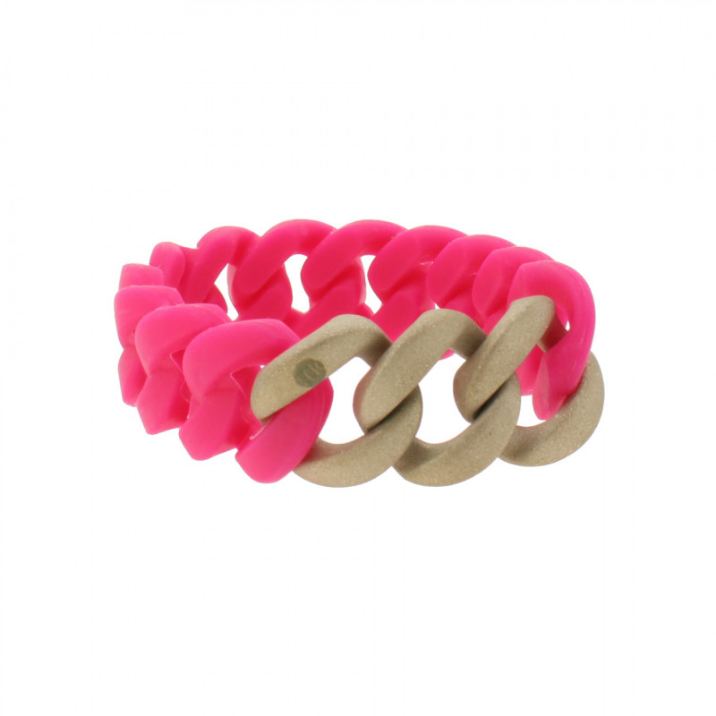 HANSE-KLUNKER ORIGINAL Damen Armband 107938 Edelstahl pink rosegold sandgestrahlt