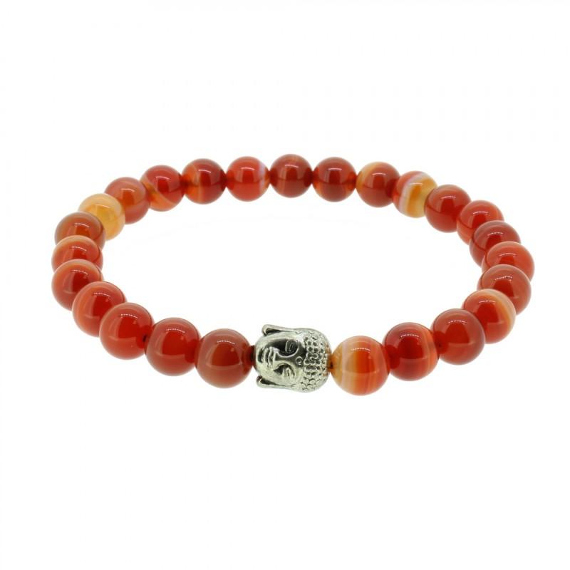 Silverart Buddha Armband 107853 FAB027 Achat rot orange Metal nickelfrei versilbert