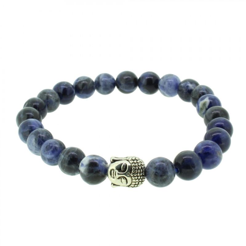 Silverart Buddha Armband 107850 FAB030 Sodalith blau Metal nickelfrei versilbert